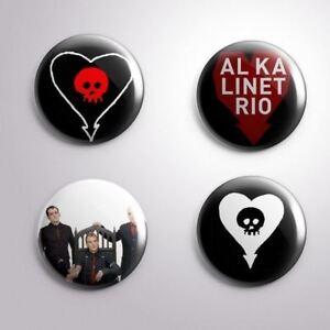 "4 ALKALINE TRIO -  Pinbacks Badges Buttons 1"" 25mm"