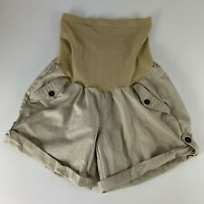 Motherhood Maternity Small Shorts Beige Full Belly Band