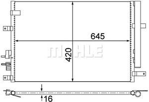 BEHR AC Condenser Fits ALFA ROMEO 159 Brera Spider 939 50507287
