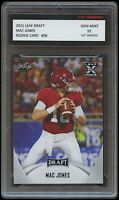 MAC JONES 2021 LEAF DRAFT 1ST GRADED 10 ROOKIE CARD RC NCAA ALABAMA CRIMSON TIDE
