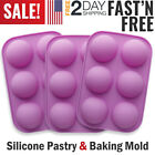 6 Hole Silicone Half Sphere Ball Cupcake Chocolate Mold Cake Decor Baking Mold