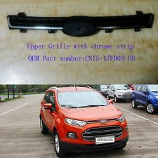 1Pcs Front Bumper Upper Grille w/Chrome Stripe For Ford EcoSport 2013-2015
