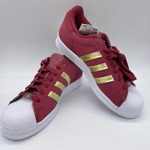 Adidas Originals Superstar W Sz 10/M Sz 8.5 Burgandy Gold Metallic Horst Dassler