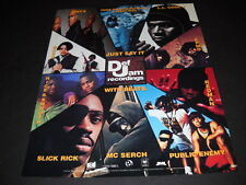 DEF JAM 1992 Promo Ad PETE NICE Daddy Rich MC SERCH Public Enemy SLICK RICK mo