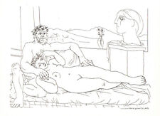 PABLO PICASSO- Escultor reposando II -28x22 cm-1956-COA