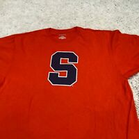 VINTAGE Jansport Mens Shirt XL Orange Syracuse Athletics Logo College Sports Tee