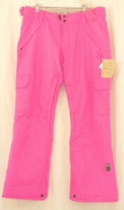 Ride Highland Classic Fit Insulated Snowboard Pants Womens Medium Pink New
