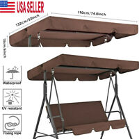 Outdoor Canopy Swing Patio Chair Lounge 3-Person Seat Hammock Porch Bench Cover