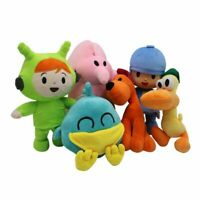 Set Of 6Pcs Pocoyo Elly Pato Loula Plush Stuffed Figure Toy Doll Kid Xmas Gift