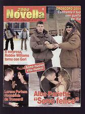 NOVELLA 2000 1/2001 PARIETTI MADONNA GERI HALLIWELL ROBIN WILLIAMS ELTON JOHN