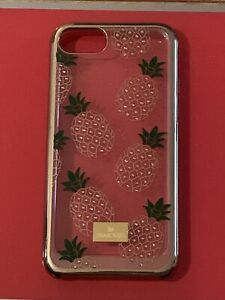 Genuine swarovski iPhone 6/7/8 case Gold With Pineapples.  Good Condition.