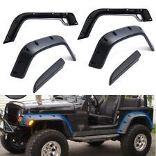 """For Jeep 97-06 Wrangler TJ 6"""" Wide Black Pocket Extended Fender Flares Kit US"""