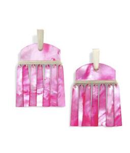 Kendra Scott Mother Of Pearl Layne Magenta Pink Earrings