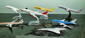 Diecast Aero planes Aircrafts Bundle DHL,Virgin,UPS,KML,France Concorde,American