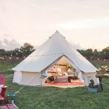 Waterproof Baumwolle 5m Bell Zelt für Familie Canvas Bell Tent with Zipped Floor