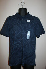 Old Navy Men's Stretch Extensible Short Sleeve Polo Shirt Blue Floral Size M