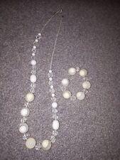 pastel daisy glass beads and bracelet set