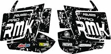 POLARIS RUSH PRO RMK  ASSAULT 144 155 163 HOOD WRAP DECAL STICKER splatter white