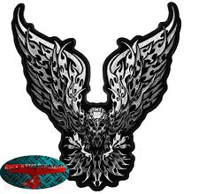 TRIBAL EAGLE MOTOCHROME Biker Patch Aufnäher Aufbügler Chrom Adler Harley USA