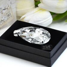 LARGE PENDANT 925 SILVER 50MM PEAR - CRYSTAL COMET CAL- CRYSTALS FROM SWAROVSKI®