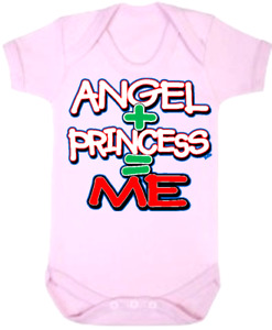 Baby One Piece Baby Bodysuits Baby Rompers Jumpsuits ANGEL + PRINCESS = ME
