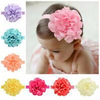 Newborn Head Wrap Baby Elastic Peony Flower Turban Headband Hairband
