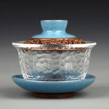 Hammer Tone Glass Blue Celadon Gaiwan Gongfu Tea Cup Tea Bowl Janpan Teaware