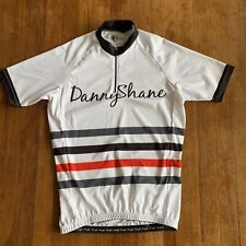 Danny Shane 1/4 Zip Short Sleeve Cycling Jersey Men's L White Pockets Ds Cyclo