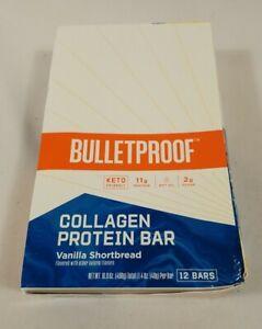 Bulletproof Collagen Protein Bars, Vanilla Shortbread 12 Pack FREE SHIP