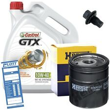 Ölwechsel Set 5 Liter 10W40 Öl Motoröl CASTROL + Ölfilter + Ablassschraube