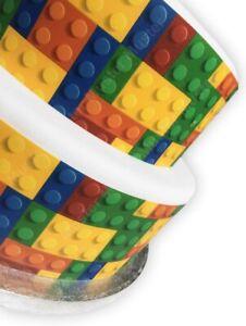 Bausteine Bauklötze eßbar Tortenband Tortenbild Party Deko Geburtstag bunt neu