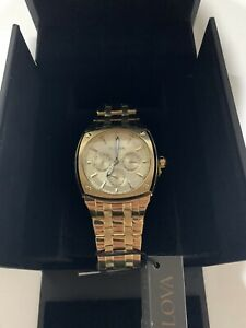 Bulova 97C105 Gold-Tone Stainless-Steel Multi-Function Watch