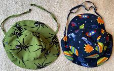 Baby Boy I-Play Lot Of 2 Sun Hats Sz 6-18m EUC Green W/Ants & Blue W/Space Theme
