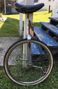 1970 Vintage Schwinn Chicago Unicycle 20 Inch Wheel All Original.  With Manual