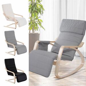 Deck Lounge Chair Garden Recliner Grey Creamy White Adjustable