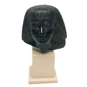 RARE Vintage Cleopatra Replica Statue Bust ~ Alva Museum Replica Cincinnati 1969