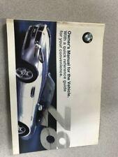 2000 BMW Z8 Z-8 Owners Operators Owner Manual OEM Factory RARE