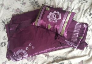 Plum Duvet Set King Size + matching bed cushion x4 matching pillow cases