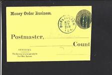 BURLINGTON, IOWA 3CT POST OFFICE COVER,MONEY ORDER BUSINESS,DES MOINES CO 1834/O