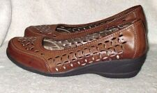 """**SOFT STYLE** By Hush Puppies, Brown Faux Leather, 1 3/4"""" Heel, 7.5M"""