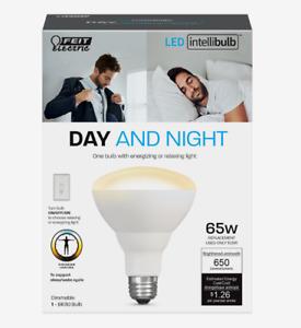 FEIT Electric DAY & NIGHT Intellibulb LED Smart Bulb Color Changing 65 Watt BR30