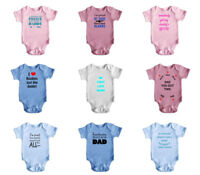 Fathers Day Funny Short Sleeve Baby Bodysuit Rompers Baby Grows Newborn 0-18 M 5