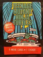 1990 Topps Teenage Mutant Ninja Turtles Movie Cards Single Wax Pack