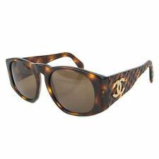 Auth CHANEL Vintage CC Logos Quilted Sunglasses Eyewear Brown F/S 19840eSaM