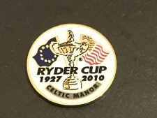 2010 Ryder Cup Logo Golf Ball Marker Neuf Plat Coin Celtic Manor Europe/USA