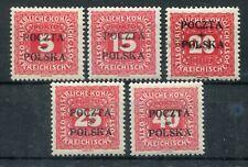 6081) POLEN 1919 - Mi.Nr. 1, 3, 4, 5, 7 * PORTOMARKEN 1165.-€
