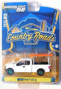 GREENLIGHT GREEN MACHINE COUNTRY ROADS 14 2015 FORD F-150 XL w/RACK & LADDER