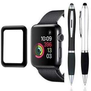 Stylus + FULL COVER Tempered Glass Screen Protector For Apple Watch Series 6 5 4