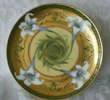 "Pickard Hand Painted 6 1/4"" Easter Lily plate by Otto Shoner, 1903-05, signed"