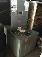 Rheem HVAC System Complete 4 Ton AC Unit+Air Handler+Heater Works Great WOW! ��